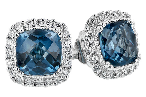 A216-92204: EARR 2.14 LONDON BLUE TOPAZ 2.40 TGW