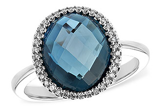 A216-93104: LDS RG 5.31 LONDON BLUE TOPAZ 5.45 TGW