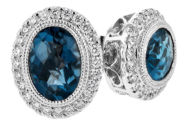 B216-92195: EARR 1.76 LONDON BLUE TOPAZ 2.01 TGW