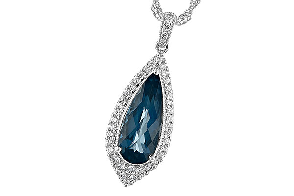B216-94013: NECK 2.40 LONDON BLUE TOPAZ 2.65 TGW