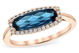 B217-86804: LDS RG 1.79 LONDON BLUE TOPAZ 1.90 TGW