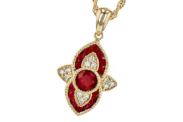 B300-57713: NECK .63 TW RUBY .70 TGW