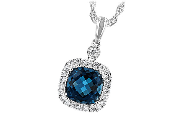 C216-92186: NECK 1.63 LONDON BLUE TOPAZ 1.80 TGW
