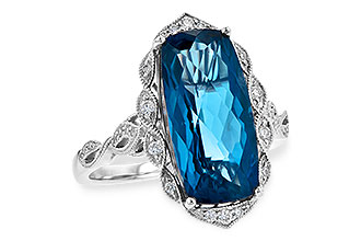 C217-83095: LDS RG 6.75 LONDON BLUE TOPAZ 6.90 TGW