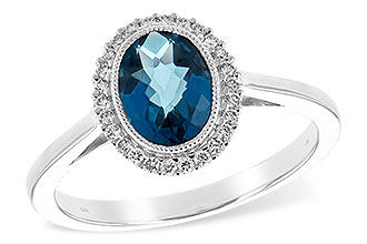 D216-92204: LDS RG 1.27 LONDON BLUE TOPAZ 1.42 TGW
