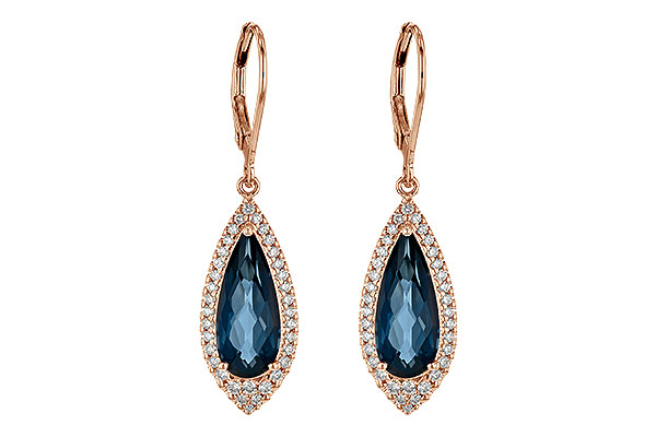 D217-83095: EARR 5.05 LONDON BLUE TOPAZ 5.42 TGW