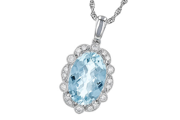D217-87667: NECK 2.40 AQUAMARINE 2.57 TGW