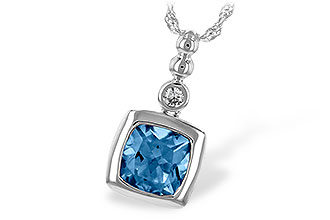 E216-95858: NECK 1.45 BLUE TOPAZ 1.49 TGW