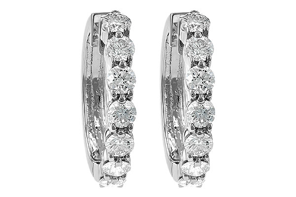 F213-30385: EARRINGS 2 CT TW