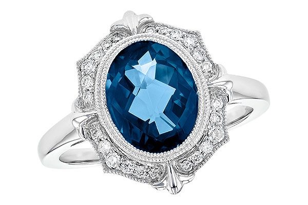 F217-89467: LDS RG 3.00 LONDON BLUE TOPAZ 3.16 TGW