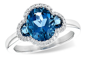 G217-87694: LDS RG 3.04 TW LONDON BLUE TOPAZ 3.20 TGW