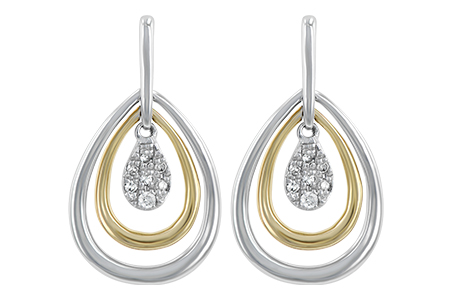 H211-49540: EARRINGS .06 TW