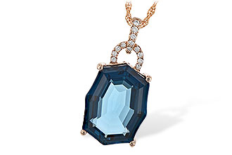 H216-99540: NECK 11.75 LONDON BLUE TOPAZ 11.85 TGW