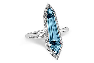 H217-83131: LDS RG 2.20 LONDON BLUE TOPAZ 2.41 TGW