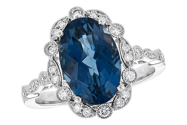 K217-84067: LDS RG 3.80 LONDON BLUE TOPAZ 4.06 TGW