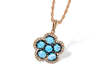 L215-13149: NECK 1.80 ROSE CUT BLUE TOPAZ 1.95 TGW