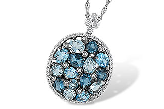L215-13167: NECK 3.12 BLUE TOPAZ 3.41 TGW