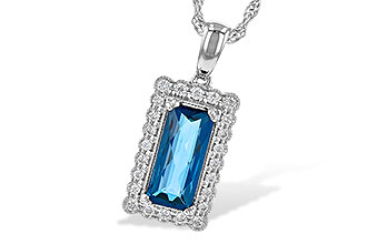 L217-89467: NECK 1.55 LONDON BLUE TOPAZ 1.70 TGW