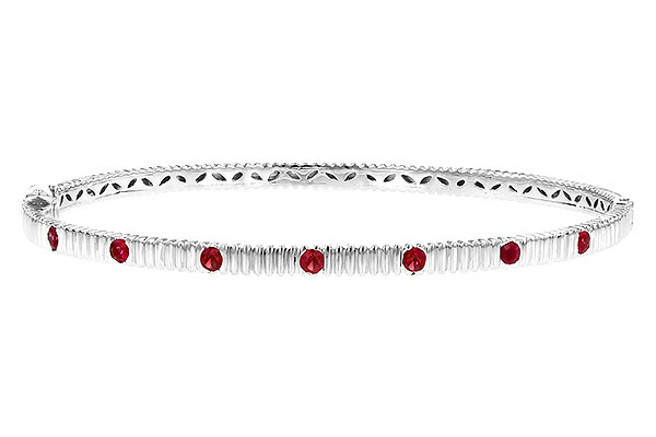 L217-89521: BANGLE .38 RUBY TW